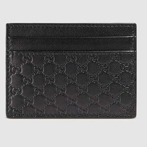 Gucci Black Microguccissima Leather Card Case